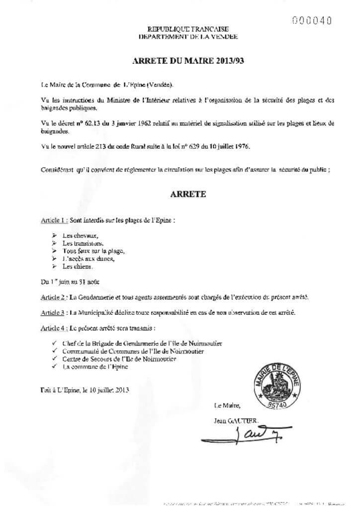 thumbnail of Arrêté Permanent n°2013 93 Plages
