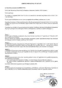 thumbnail of Arrêté 137 Chenilles Processionnaire