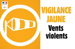 LEVEE D'ALERTE METEOROLOGIQUE DE NIVEAU ORANGE POUR VENT VIOLENT