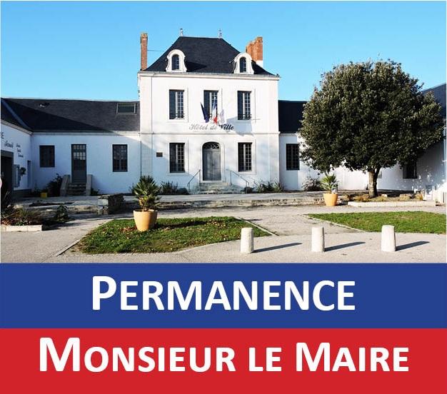PERMANENCE DE MONSIEUR LE MAIRE