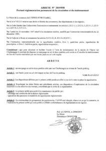 thumbnail of arrêté n° 2019 058