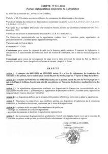 thumbnail of Arrêté 212 2020 port de Morin