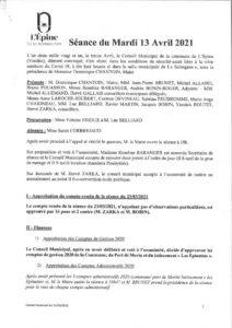 thumbnail of Conseil Municipal avril 2021