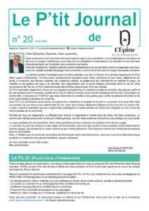 thumbnail of Le P'tit Journal N° 20