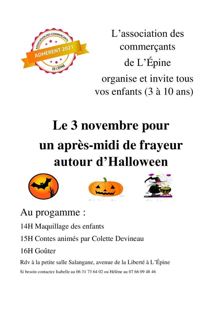 thumbnail of affiche du 3 novembre Halloween